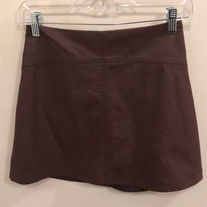Abercrombie and Fitch leather mini skirt